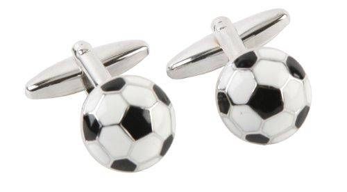 Harvey Makin - Gemelli placcati al rodio a forma di pallone da calcio
