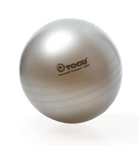 Togu Gymnastikball Powerball Premium ABS (Berstsicher), silber, 75 cm