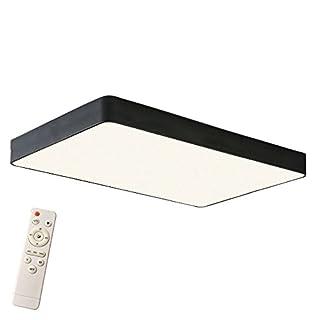 SAILUN 48W Dimmbar LED Einfach Deckenlampe Platz Deckenleuchte für Schlafzimmer Küche Flur Wohnzimmer Lampe Wandleuchte Energie Sparen Licht Schwarz