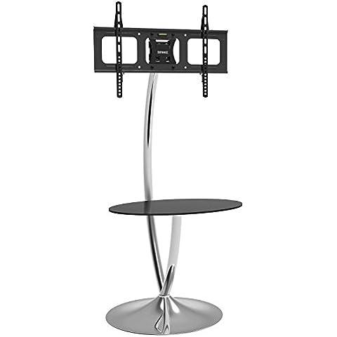 Duronic TVS3F1 – Estante de cristal diseño contemporáneo moderno para TV / Plasma / LCD / LED – 76cm – 127cm