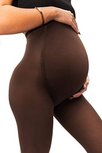 sofsy Blickdichte Schwangerschaftsstrumpfhose - Super bequeme Stützstrumpfhose für alle Trimester | 50 DEN [Made in Italy] Cappuccino 3 - Medium