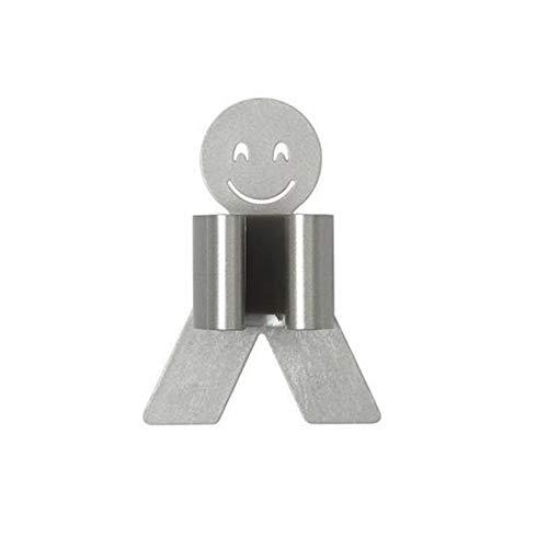 XIAOXINGXING Smiley-Gesichts-Mopp-Besen-Halter-Zahnstange Schlags Freie Wand Befestigte Storage Rack Clip Produkt Wandhalter Küche Badezimmer Lagerung (Color : Gray) -