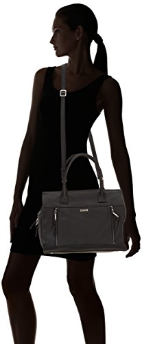 Cinque Rachelle Handtasche mit Reißverschluss, Borsa a mano donna Nero (Schwarz (schwarz 9000))