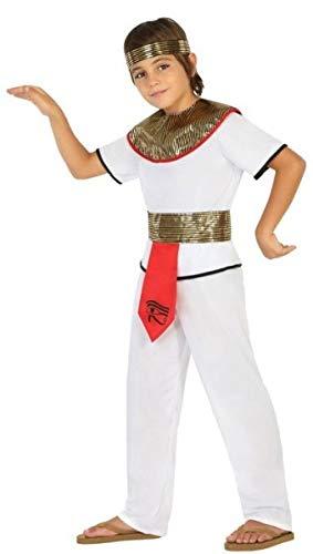 Fancy Me Ägyptisches Kostüm für Jungen und Mädchen, Kleopatra, für Karneval, Halloween, 3-12 Jahre
