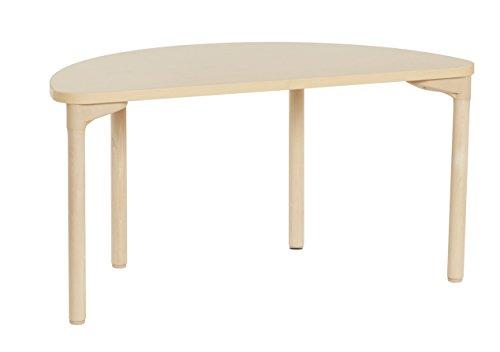 Ahorn Runde Tisch (ECR4Kids 61x 121,9cm Hälfte rund Ahorn-Aktivität Schule Tisch mit thermo-fused Edge und Holz Beine, 20