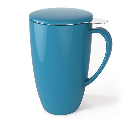 Sweese 2107 Teetasse mit Deckel und Sieb, Becher aus Porzellan für Losen Tee Oder Beutel, Azurblau,...