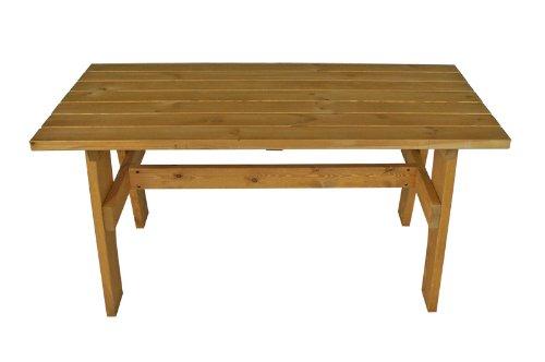 Massivholz Gartentisch FREITAL 70x150cm, Kiefer massiv 35mm, imprägniert