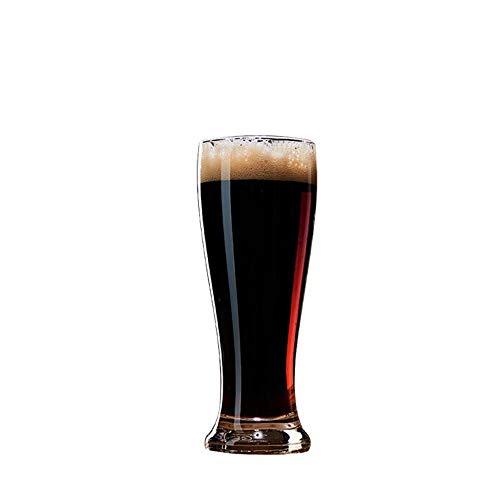 Ainec-liquor Weinglas bleifreier Glas Bierkrug Hitzebeständiger Wasserglas Saft Tasse Trinken Glas Milch Tasse 6 Tassen 425ml