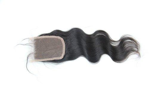 30,5 cm cheveux vierges brésiliens Ondulés dentelle fermeture/fermeture supérieure (8,9 x 10,2 cm) couleur naturelle 120% Densité
