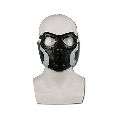 YaPin Cos Winter Soldier Maske Maske Winter Warrior Halloween Dress Up Maske Filme und Requisiten
