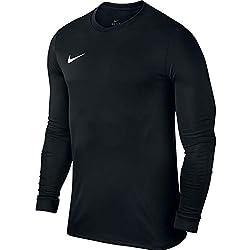 Nike LS Park Vi JSY Camiseta de Manga Larga, Hombre, Negro (Black/White), L