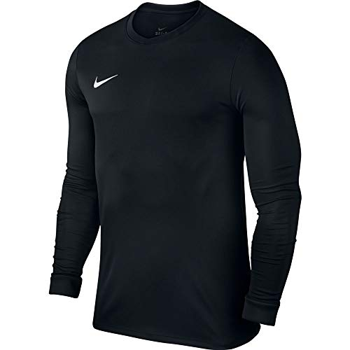 NIKE Herren Langarm Trikot Park VI, 725884-010, schwarz (Black/White), Gr. L (Nike Jersey Mesh)