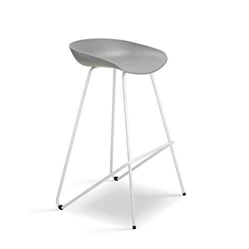 Hohe Dining Chair (Qjifangyizi Hoher Hocker, Creative Dining Chair Moderne Rückenlehne Frühstücksbar Küchenstühle Sitzhöhe 66 cm / 76 cm (Farbe : Gray, größe : Sitting Height 66cm))