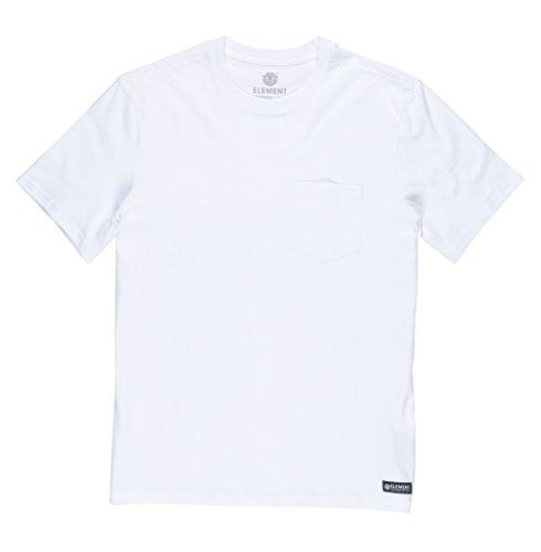 White Pocket Hemd (Element Herren Basic Pocket CR SS Shirt und Hemd, Optic White, M)
