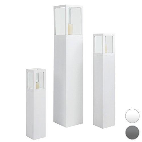 Windlichtsäule in Weiß Kerzendeko Windlicht
