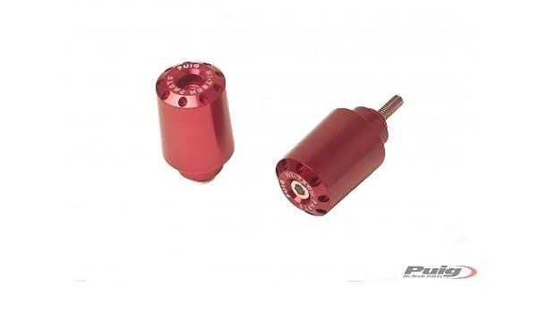 Contrepoids PUIG terminaux Guidon-Aluminium Rouge