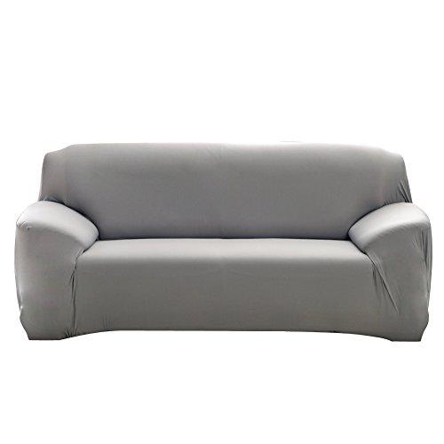 Fuloon Sofabezug Stretch Sofa Slipcover Sofa Covers Stretch Schonbezug Sofahussen (3-Sitzer, Grau)