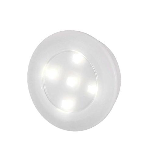 WINOMO Puce LED sans fil lumière sensible à la lumière Stick-on tap s'allume les lumières à piles (blanc)