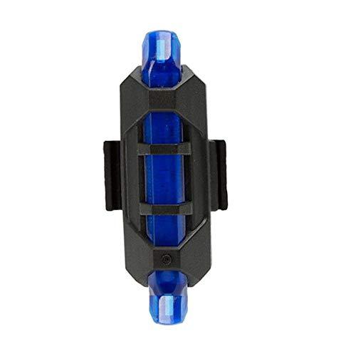 ODJOY-FAN Fahrrad Rücklicht, Radfahren LED USB Wiederaufladbar Fahrrad Schwanz Warnung Licht Rückseite,Heller LED Kopf,USB Rücklichter,Rechargeable Taillights (8.5x2.5cm) (Blau, 1 PC)