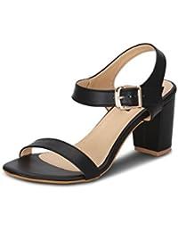 Get Glamr Women's Black Sandals