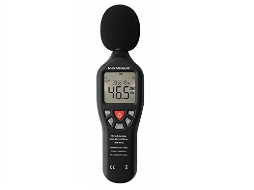 Digitales Messgerät Dezibel klangliche Ebene 30-130dB Luftdruck Prüfer USB automatisch umschaltend mit internem Speicher und Hintergrundbeleuchtung
