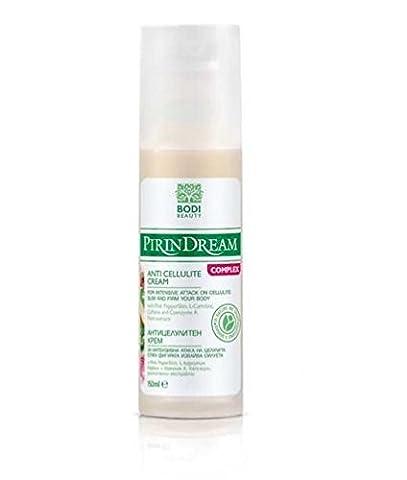 PIRIN DREAM ANTI CELLULITE CREAM with Mursala Tea, Bulgarian Rose, Wild Yam, Brown Seaweed & Vitamins 200ml