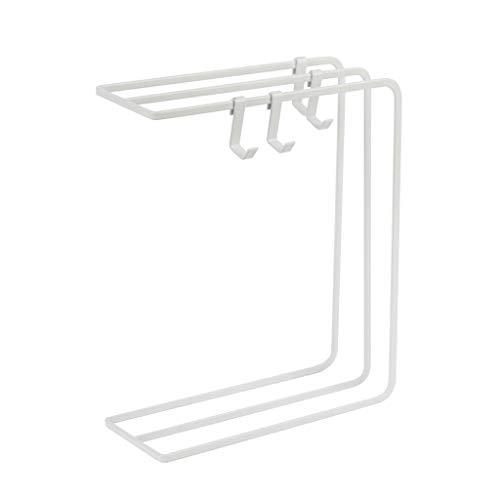 ZH Einfache Eisen Handtuch Lappenhalter Regal Dish Handtuchhalter mit Haken - Küche Bad Handtuchständer Rack Tücher Tücher Geschirrtuch Reinigungstuch Trockenen Lumpen Hängende Veranstalter, Mehrzweck (Trockene Tücher Rack)