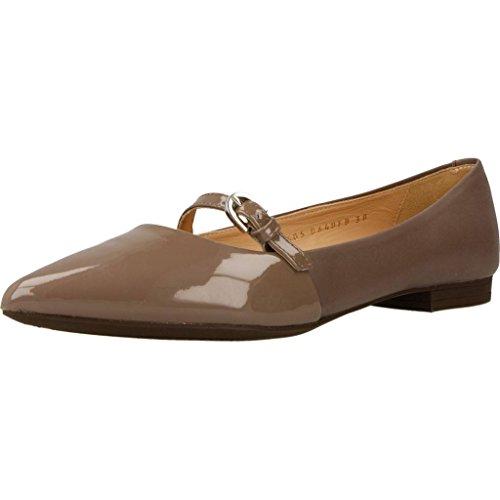 Zapatos bailarina para mujer, color marrï¿œn, marca GEOX, modelo Zapatos Bailarina Para Mujer GEOX...
