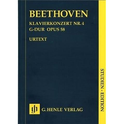 Concerto 4Sol Maggiore Op 58–arrangiate per pianoforte–Orchestra