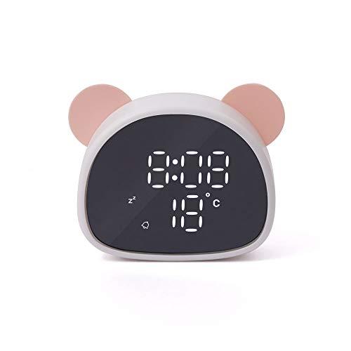 KBTE Termometro Digital Termómetro Habitaciones Termómetros Higrómetro, Espejo Panda Reloj Despertador...
