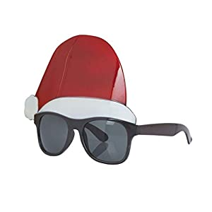 Bristol Novelty BA3228 - Gafas para hombre, diseño de gorro de Papá Noel, color negro, rojo y blanco
