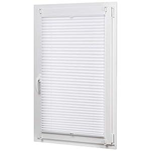 AmazonBasics - Faltrollo, robustes Polyestergewebe, mit Clip-System, 70 x 130 cm, Weiß