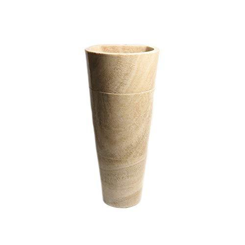 wohnfreuden Standwaschbecken Onyx Naturstein 40x40x90cm Säulenwaschbecken Standsäule - Fossil Marmor