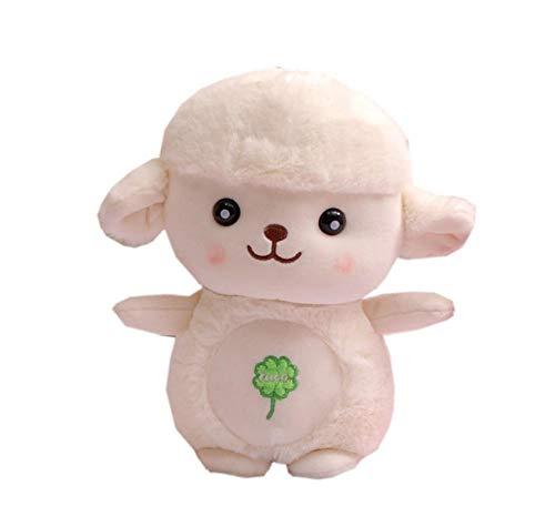 FUUYUHAN Kuscheltiere Boutique Lamm Puppe Plüschtier Blätter Lamm Zu Senden Kinder Geburtstagsgeschenke Zufällig 25 cm (Lamm Blatt)