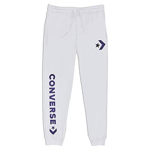 Converse Star Chevron Graphic Jogger White Herren Jogginghose Sweat Pants Weiss, Bekleidungsgröße:L