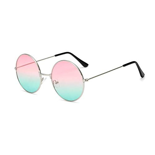 GJYANJING Sonnenbrille Metall Kreisförmig Mode Marine Linsen Rote Sonnenbrille Männer Und Frauen Persönlichkeit Prince Mirror Uv400