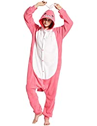 Unisex Animal Pijama Ropa de Dormir Cosplay Kigurumi Onesie Unicornio Amarillo Disfraz para Adulto Entre 1