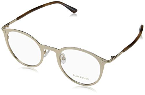 Tom Ford Unisex-Erwachsene Brille Ft5465 28b 47 Brillengestelle, Silber (Tom Ford Brille Runde)