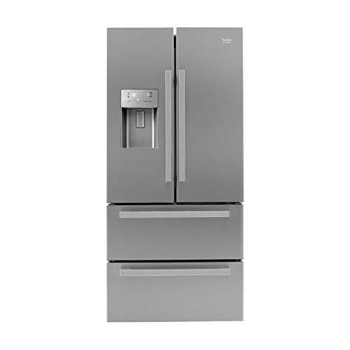 Beko GNE60532DX frigo américain Autonome Aluminium, Argent 387 L A++ - Frigos américains (Autonome, Aluminium, Argent, Américain, Boutons, Tactil, LCD, 387 L)