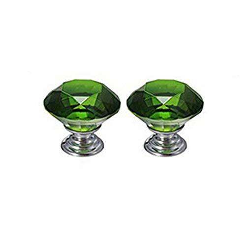2 stücke Glas Kabinett Knöpfe Kristall Schublade zieht 30 mm Diamant Möbelknöpfe für Küche Bad Kabinett Kommode und Schrank von TheBigThumb (Glas Knöpfe Und Zieht)