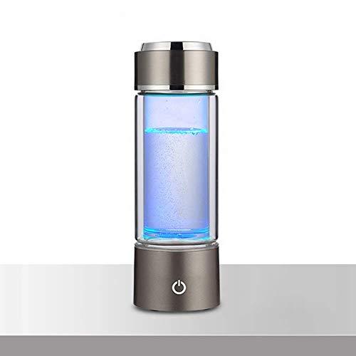 DUDDP Wasserstoffwasser Wasserstoffflasche - Wasserstoffreiche Flasche mit reinigendem Wasser, Lonizer Cup-Filtergenerator mit USB-Aufladung, Anti-Aging-Geschenk für Mama (Color : Gray) - Anti-aging-geschenk