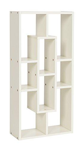 ts-ideen Libreria Scaffale 33x70 cm color Bianco Caldo con 8 vani