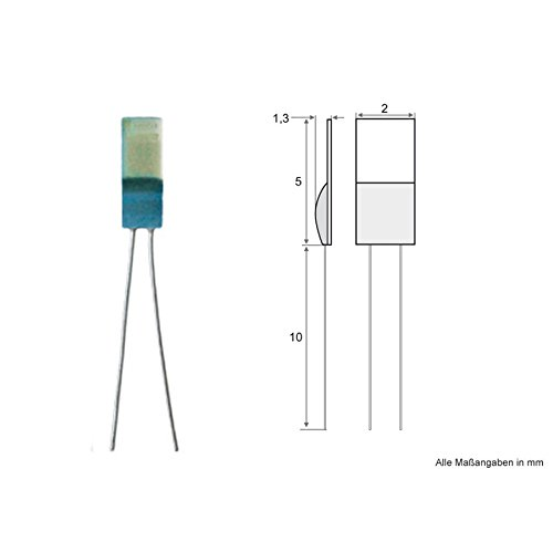 PT1000 Sensor Messfühler Platin Chip EN 60751 - 5 Stück Temperatursensor (Platin-chip)