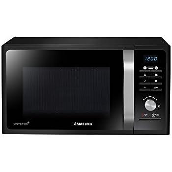 Samsung MG23F301TCK Forno a Microonde 800 W, Grill 1100 W, 23 l, Piatto Doratore Crusty, Nero