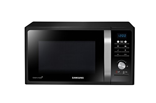 Samsung MG23F301TCK Forno a Microonde 800 W, Grill 1100 W, 23 l, Piatto Doratore Crusty, 23 Litri, Nero