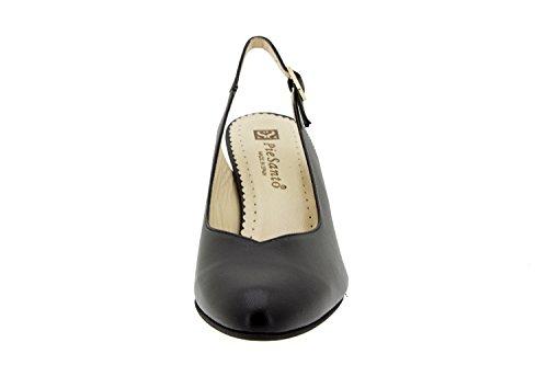 Scarpe donna comfort pelle Piesanto 6210 décolleté di sera comfort larghezza speciale Piel Negro