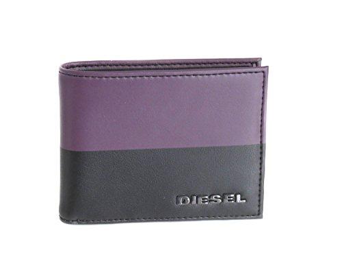 Diesel Portafoglio in pelle di colore nero e viola