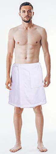 Consumable Depot Damen Body, 100% türkische Baumwolle, Waffelmuster mit verstellbarem Verschluss Men Cotton Wrap weiß Man Wrap