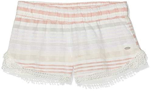 O'Neill Mädchen LG Stripey Surf Shorts, Weiß All Over Print mit Pink/Lila, 128 -