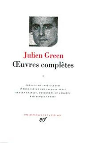 Green : Oeuvres complètes, tome 1